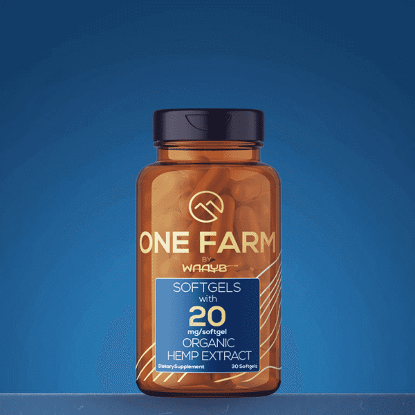 CBD Softgels made with One Farm's USDA Organic CBD