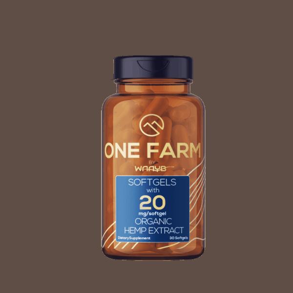 One Farm Organic Gluten Free CBD Softgels